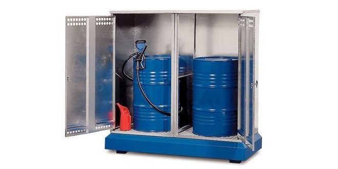 Caso práctico con el volumen de productos químicos a almacenar