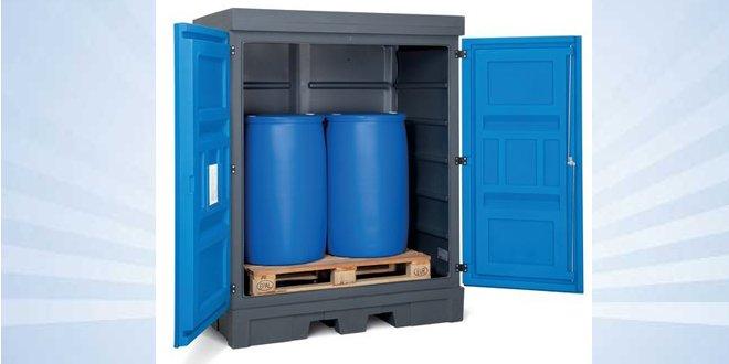 Despositos para sustancias químicas y almacenar de forma segura bidones