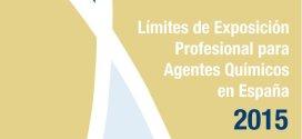 Presentado el nuevo documento: Límites de exposición profesional para agentes químicos, año 2015