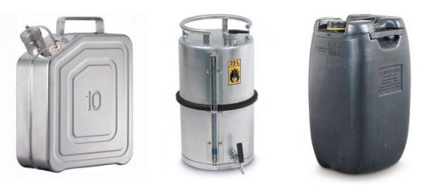Garrafas y recipientes para almacenar productos inflamables