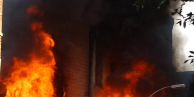 Incendio con productos químicos en Arganda del Rey