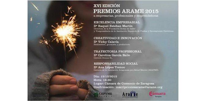 Premios ARAME 2015 & Carolina García