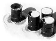 Escena invernal con la congelación de materias primas y productos químicos