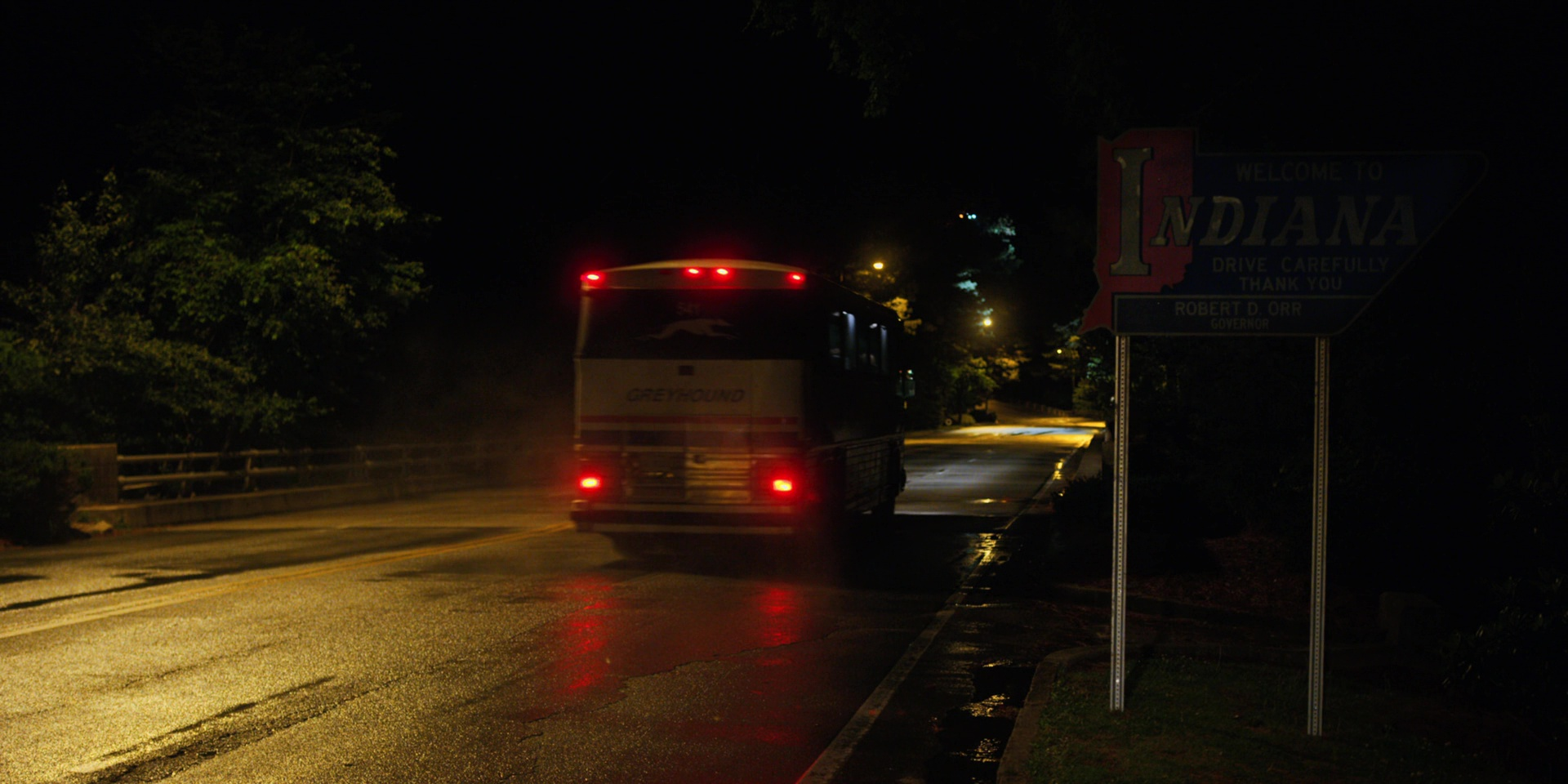 Greyhound Lines Bus Used by Millie Bobby Brown in Stranger Things The Lost Sister 2017 TV Show