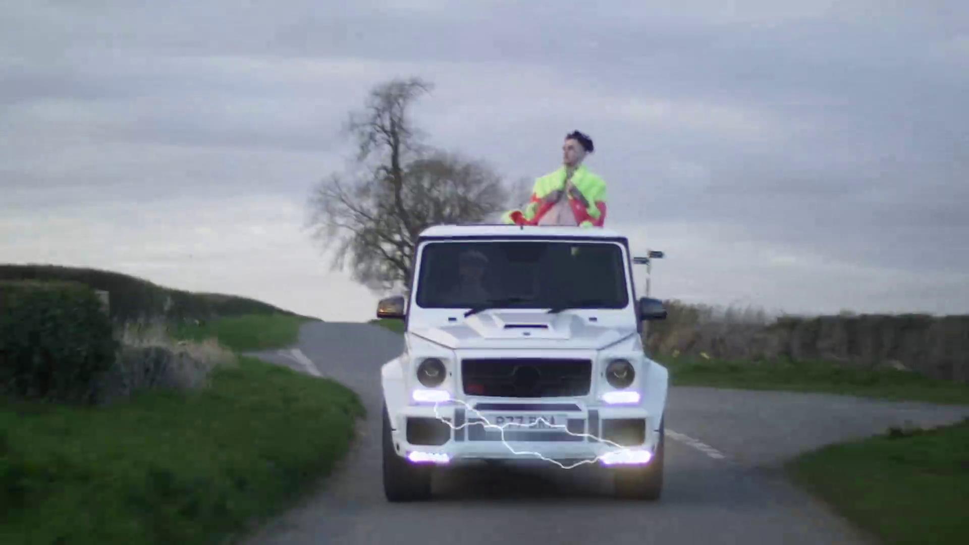 Mercedes Brabus Gelandewagen GClass White Car in Benz