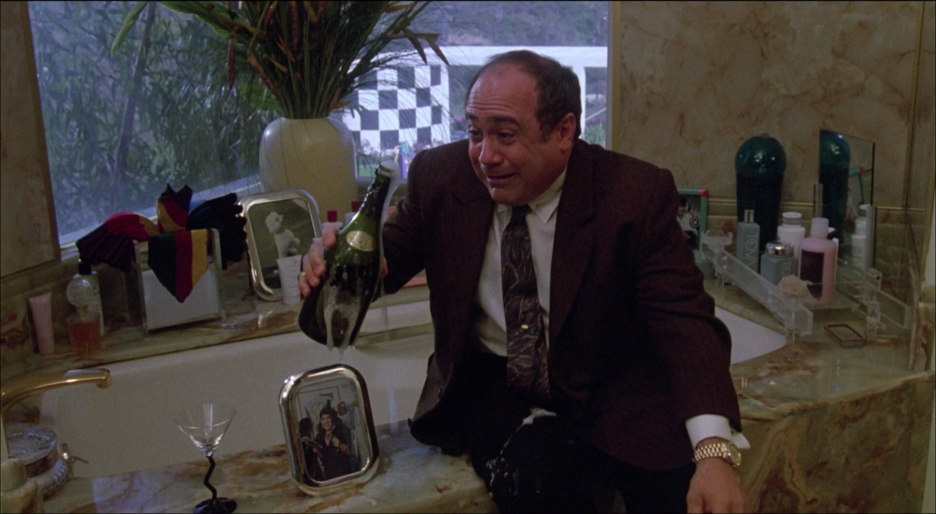 Dom Prignon and Danny DeVito in Ruthless People 1986 Movie