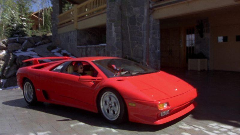 Lamborghini Diablo Red Sports Car Used By Jim Carrey And