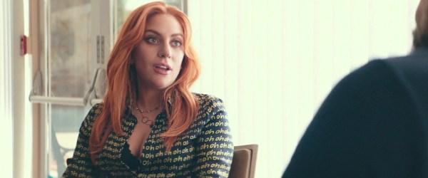 "Maki "" Ruffle Sleeve Shirt Worn Lady Gaga"
