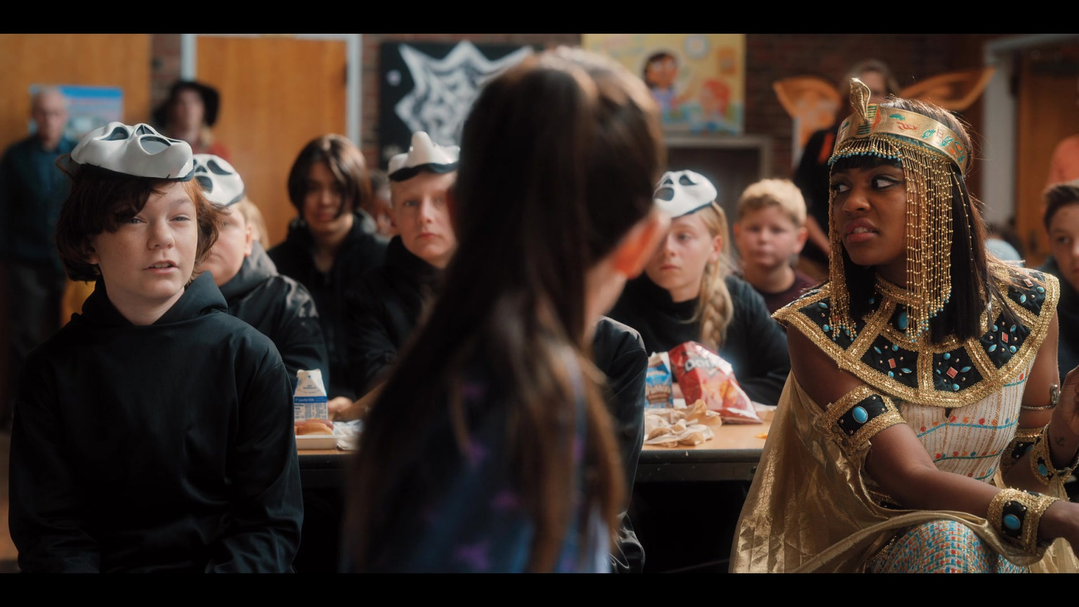 Hubie halloween is a 2020 american halloween comedy horror film directed by steven brill, written by adam sandler and tim herlihy, and starring an ensemble cast consisting of sandler, kevin james, julie bowen, ray liotta, rob schneider, june squibb, kenan thompson, shaquille o'neal, steve buscemi, maya rudolph, tim meadows, karan brar, paris berelc, noah … Doritos Chips In Hubie Halloween (2020)