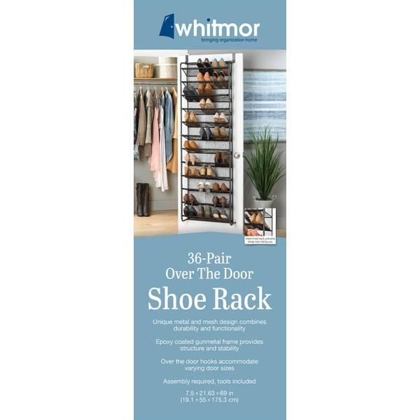 36 pair over the door shoe organizer