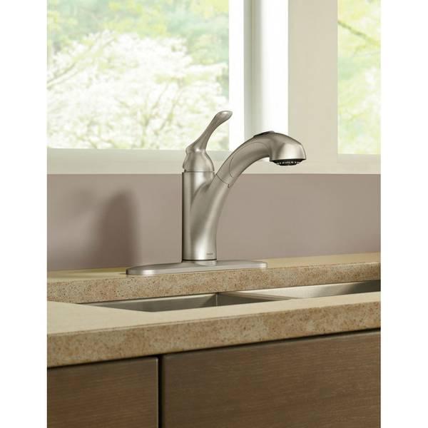 banbury single handle pullout kitchen faucet