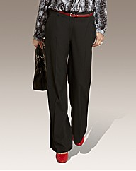 Fabric Tailored Wide Leg Plus Size Trousers
