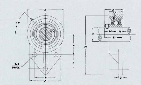FB / UCFB 3-Bolt Flange Bracket Units On Emerson Bearing