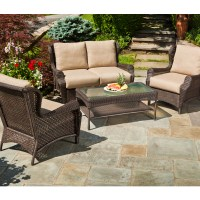 Bar Harbor 4 Piece Wicker Group by Alfresco Home | Family ...
