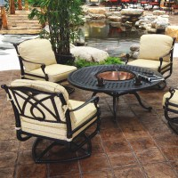 Grand Terrace Fire Pit Set by Gensun | Family Leisure ...