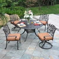 St. Augustine Cast Aluminum Dining Patio Furniture by ...