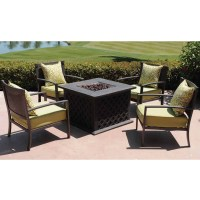 Patio Set With Fire Pit Table | Patio Design Ideas