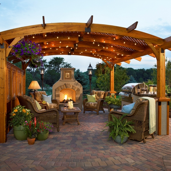 lighting will turn a patio into a piazza