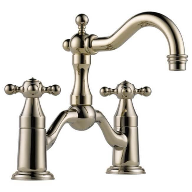 brizo kitchen faucet cabinet materials faucets henry and bath saint louis missouri bridge item 65538lf pn