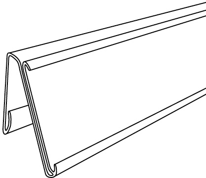 Dual-Purpose Info Strip Label Holder For Slotted Shelf On