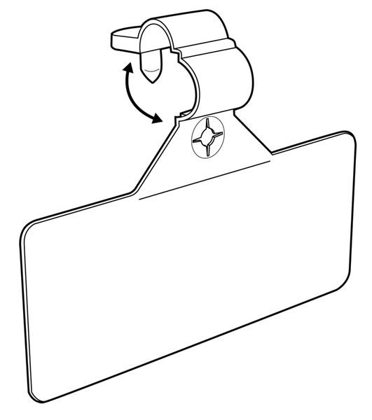 Part # 107205, Label Holder For Wire Fixtures, 3