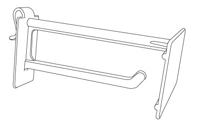 Corrugated/Wire Combo Display Hooks With Scan Plate On