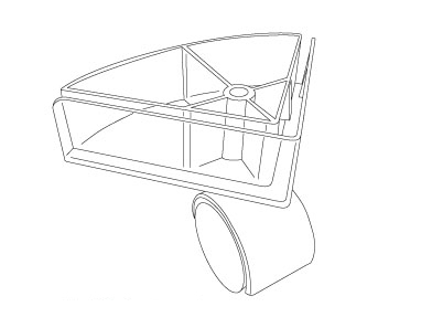 Swivel Display Caster With Corner Bracket On Kinter (K