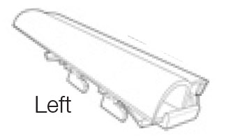 Part # 106310, Gripper Gondola Upright Header On Kinter (K