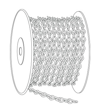 Part # 104001B, Metal Jack Chain, #16 Size, 250' L. Spool
