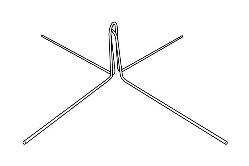 Wire Display Pole Foot On Kinter (K International, Inc.)