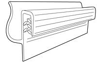 Part # 108730, Gripper Flush Sign Holder For Slatwall On
