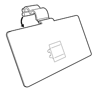 Part # 107213, Label Holder For Double Wire Shelf On
