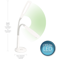 OttLite | Natural Daylight LED Flex Lamp | Desk Lamp