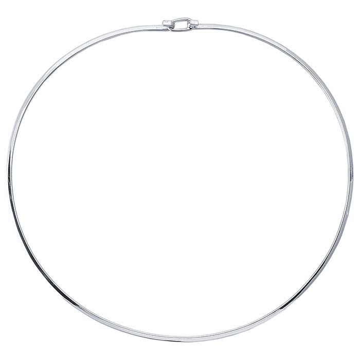 Sterling Silver 2.5mm Flat-Wire Neck Ring