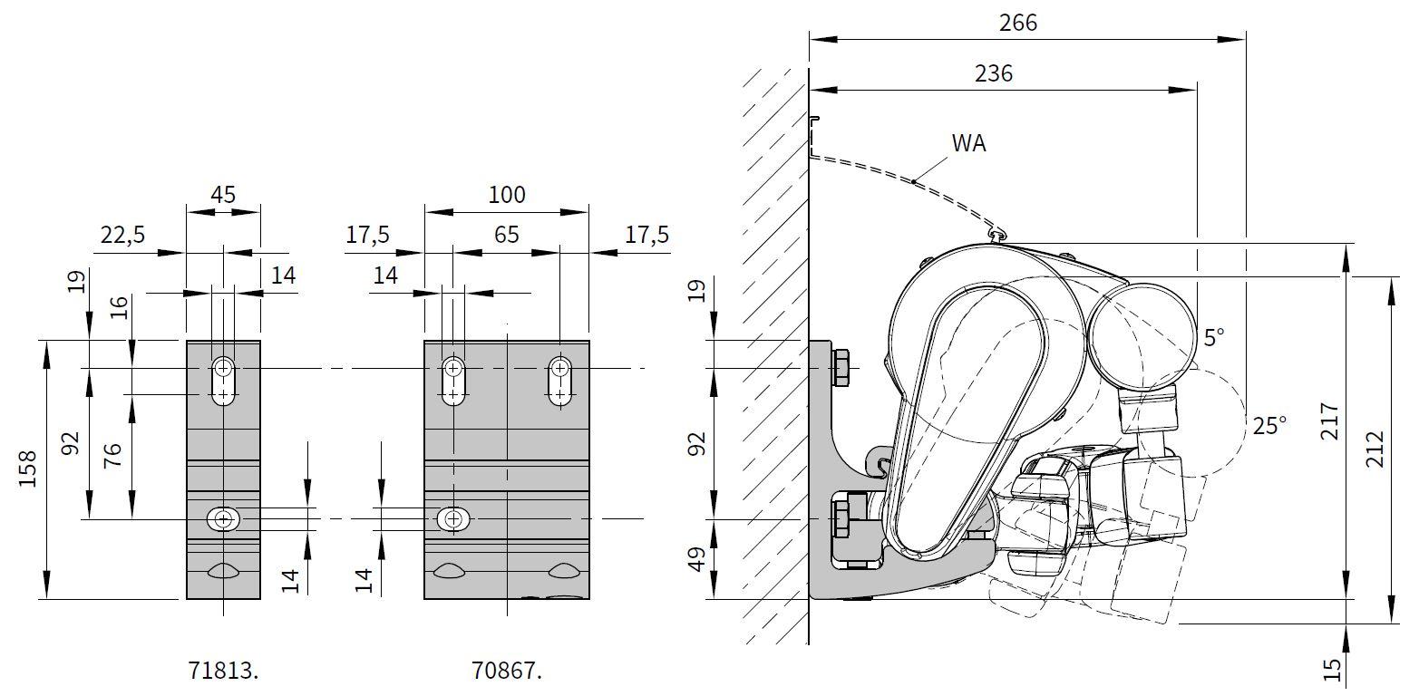 Markilux 1710 Manual Patio Awning Markilux Fabric