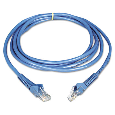 BLKA3X12650YLWM CAT5e Molded Crossover Patch Cable