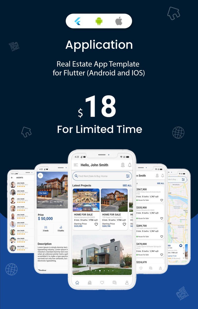 onProperty - Real Estate App Template for Flutter (Android and IOS) - 1
