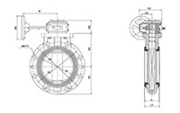 8 to 24 Inch (in) Gear Type Butterfly Valves On TVI