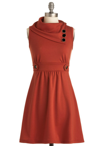 Coach Tour Dress in Tangerine