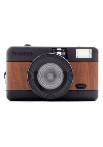 Fisheye One Lomography Camera in Woodgrain by Lomography - Brown, Vintage Inspired, Urban, Mid-Century, Graduation, Travel
