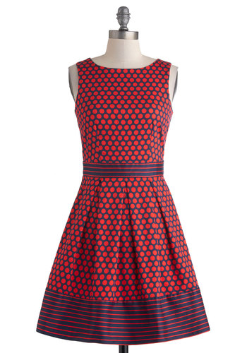 In the Pattern Mix Dress in Dots from ModCloth - $74.99 #affiliate