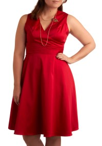 Beguiling Beauty Dress in Red - Plus Size | Mod Retro ...