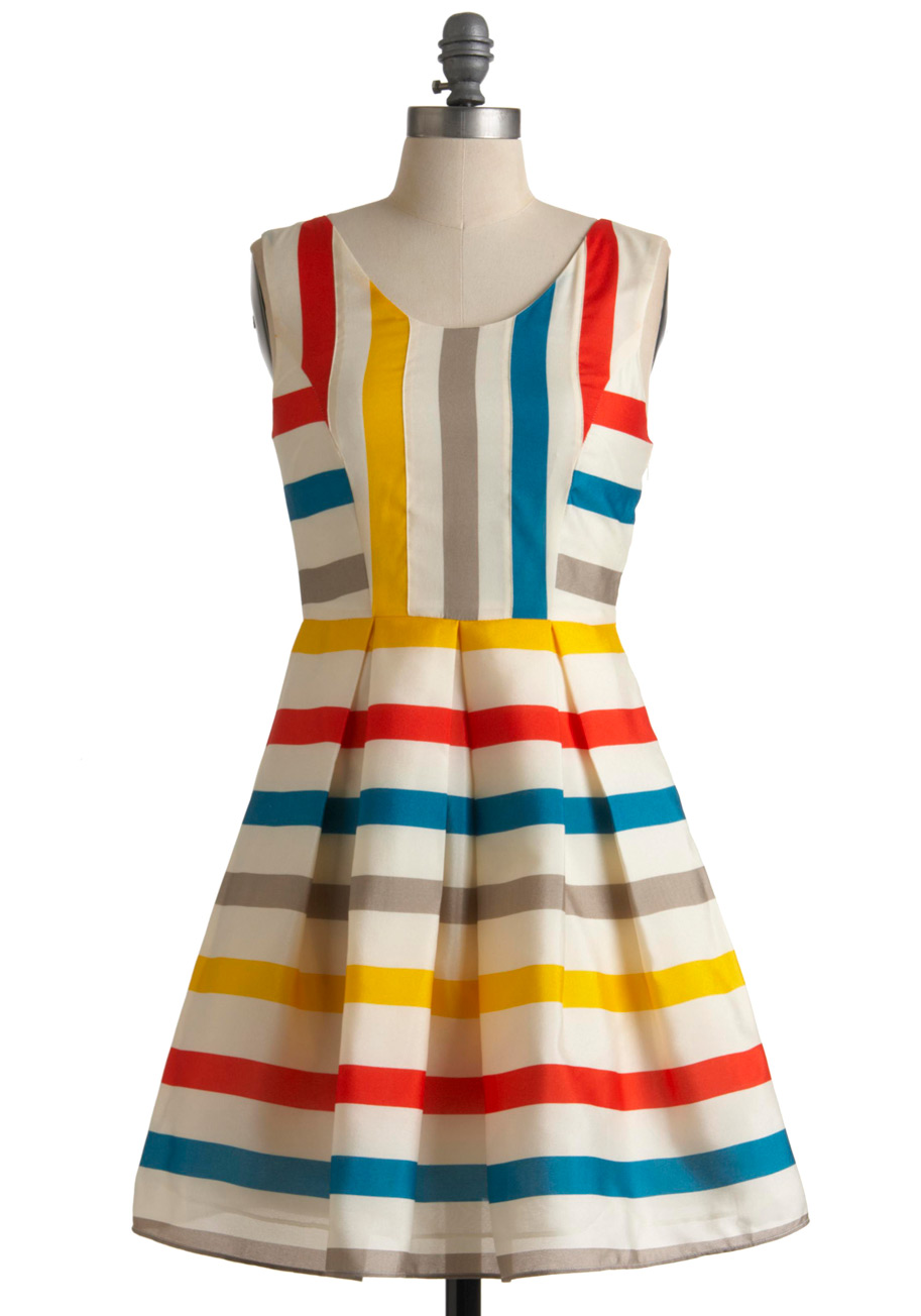Red Yellow and Blue Dress