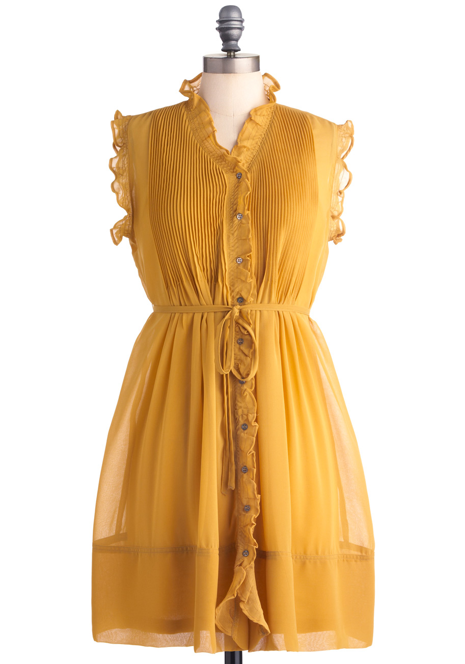 Yellow Mustard Color Dresses