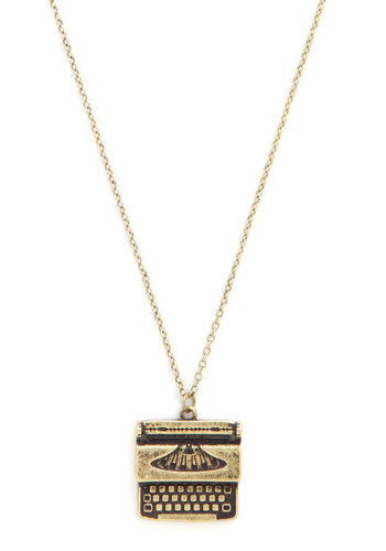 Live Up to the Type Necklace from ModCloth