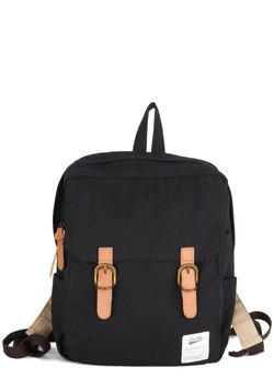 swing into action backpack in black (modcloth)
