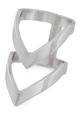 Put a Ring Chevron It! Ring in Silver