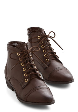 Boots & Booties - Charm Beyond Compare Bootie in Brown