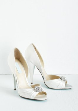 Betsey Johnson Fancy and You Know It Heel in Ivory
