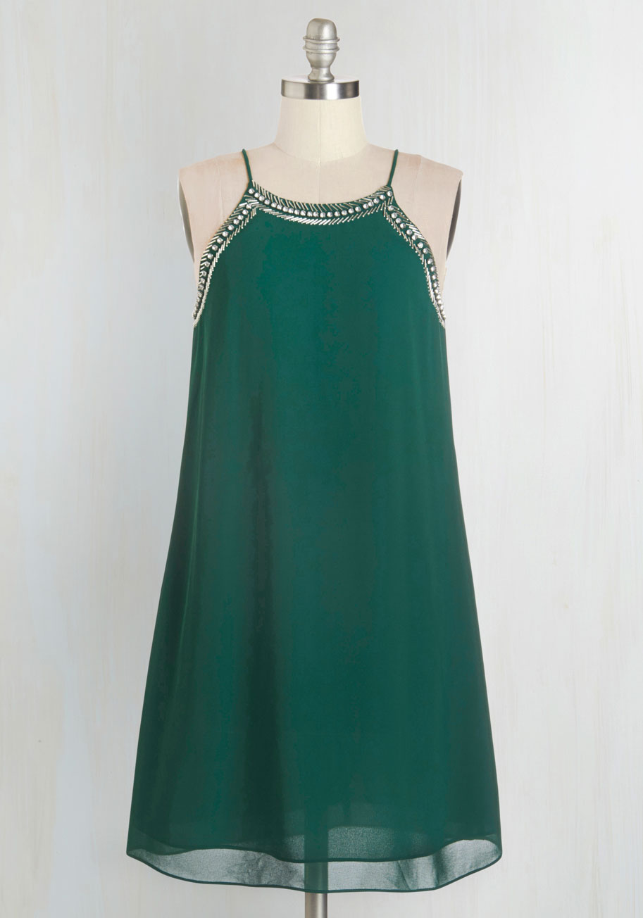 Curator Dress In Jade Mod Retro Vintage Dresses